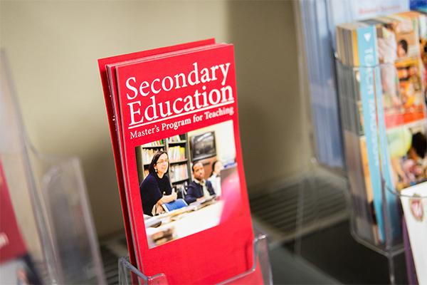 Secondary Education master's program pamphlet